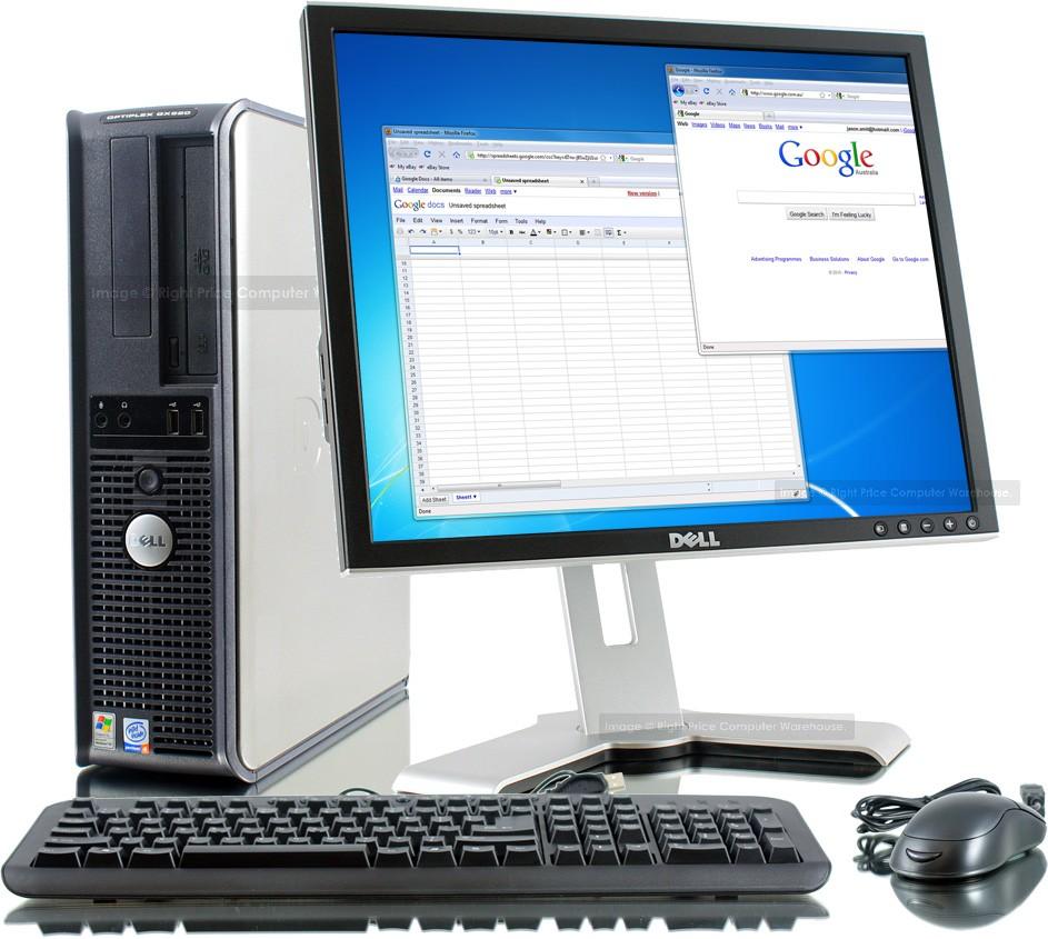 Dell Optiplex Gx520 Mini Tower Set Front Source Tech